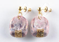 pink and gold earrings m44r